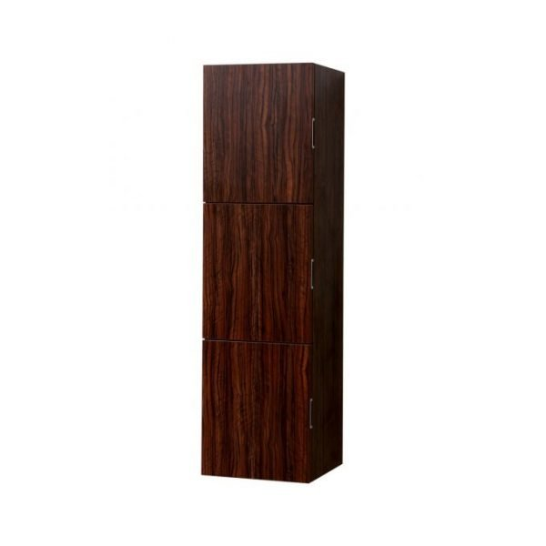 """Bliss 18"""" Wide by 59"""" High Linen Side Cabinet With Three Doors in Walnut Finish"""