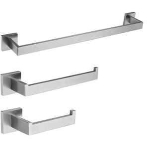 Bathroom Accessory Set - 3-Piece - Nickel
